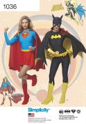 1036 Misses' DC Supergirl and Batgirl Costumes