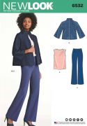 6532 Misses Trousers, Top and Jacket