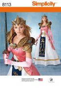 8113 Misses' Costume with Craft Foam Armor, Belt & Crown by Firefly Path