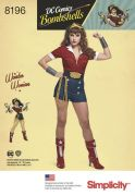 8196 Misses' DC Comics Bombshell Wonder Woman Costume