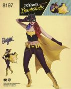 8197 Misses' DC Comics Bombshell Bat Girl Costume