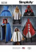 8238 Misses', Men's and Teen's Cape Costumes