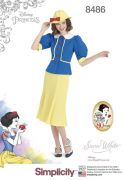 8486 Misses' 1930s Snow White Dress and Hat