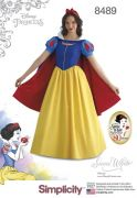 8489 Misses' Snow White Costume