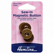 Magnetic Sew-In Button 18mm