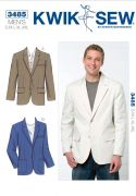 K3485 Men's Two-Button Blazer