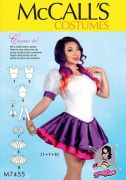 M7455 Misses' Skirted Leotards with Mix-and-Match Design Variations by Yaya Han