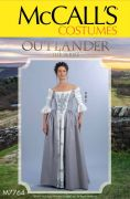 M7764 Misses' Outlander Top and Skirts