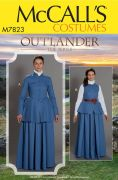 M7823 Misses' Outlander Costume