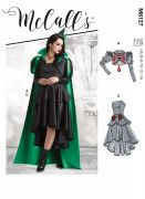 M8127 Misses'  Dress, Jacket and Cape Gothic or Witch Costume