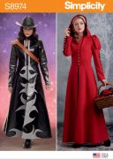 8974 Misses' Cosplay Coat Costume