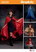9008 Misses' Cape with Tie Costumes