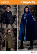 9009 Misses', Men's and Teens' Cape Costumes