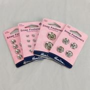 Sew-On Snap Fasteners in Silver (various sizes)