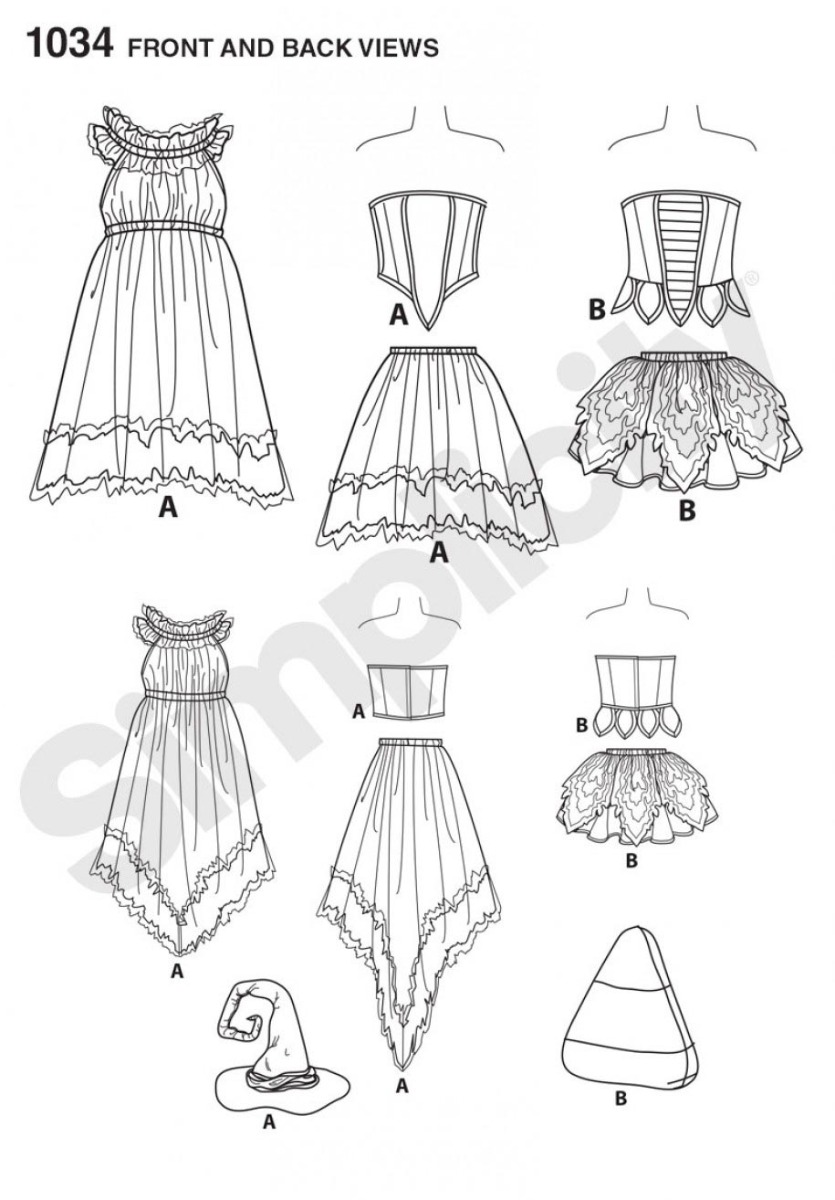 1034 Misses' Amy Brown Fairy Costumes