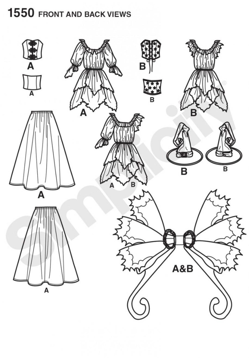 1550 Misses' Amy Brown Fairy Costume