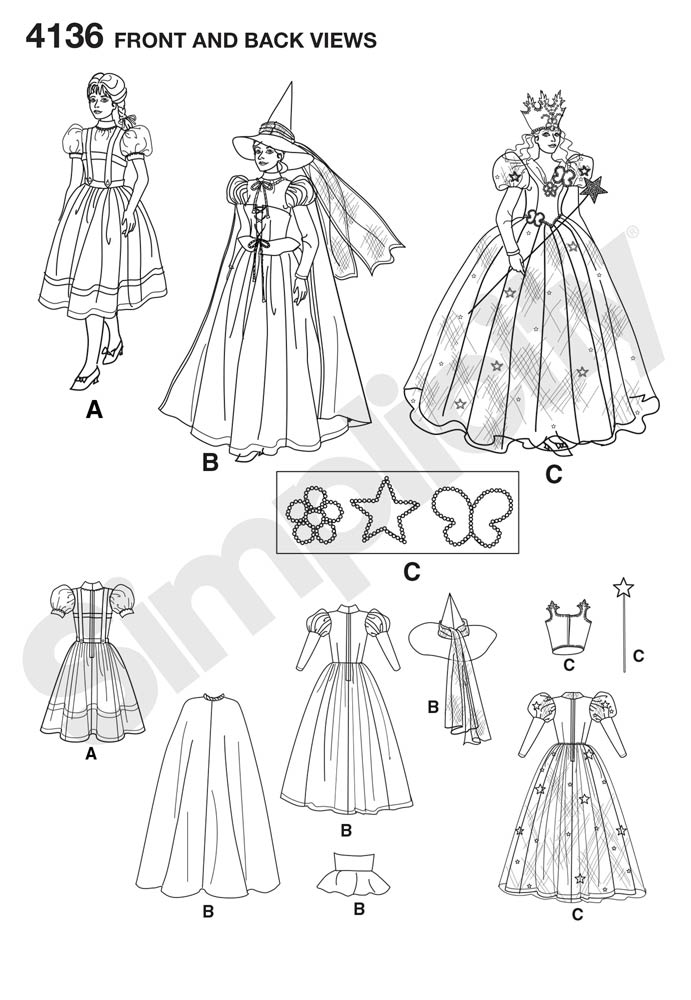 4136 The Wizard of Oz Costumes