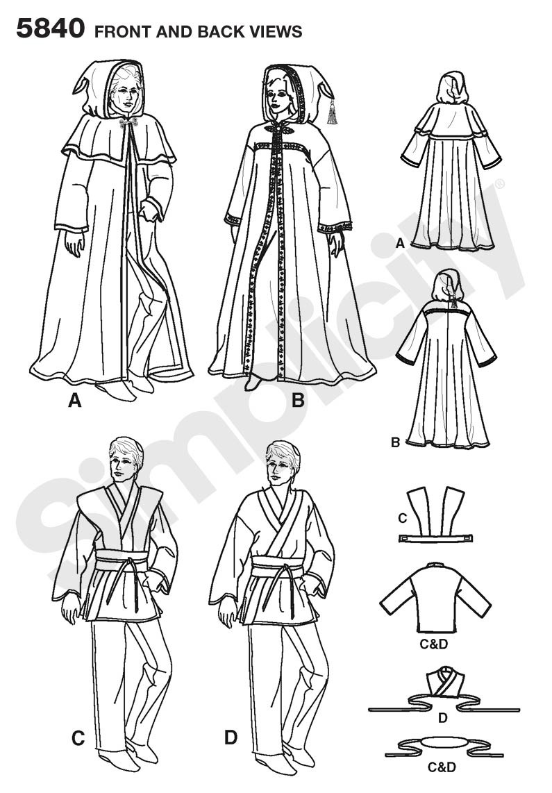 5840 Misses, Men & Teen Robe and Tunic