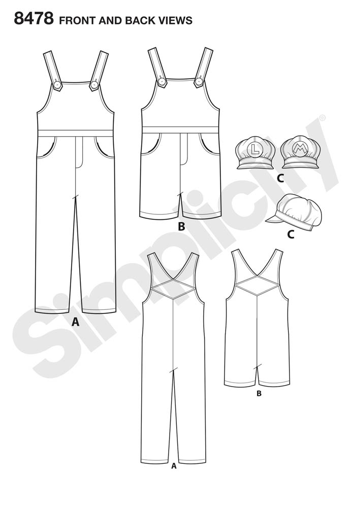 8478 Super Mario Costumes for Misses, Mens and Teens