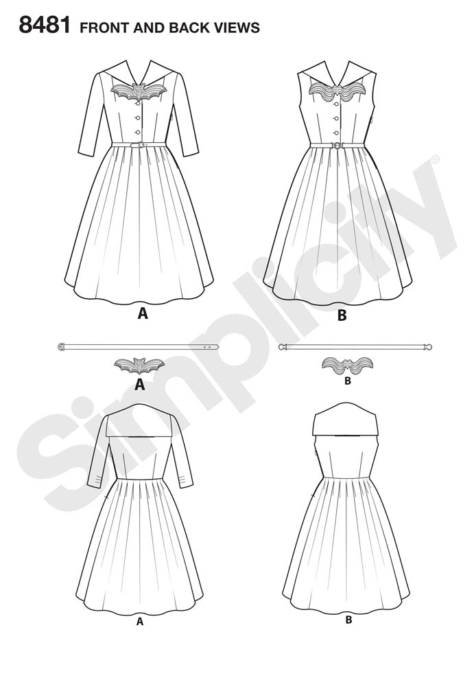 8481 Misses' and Women's Rockabilly Dresses
