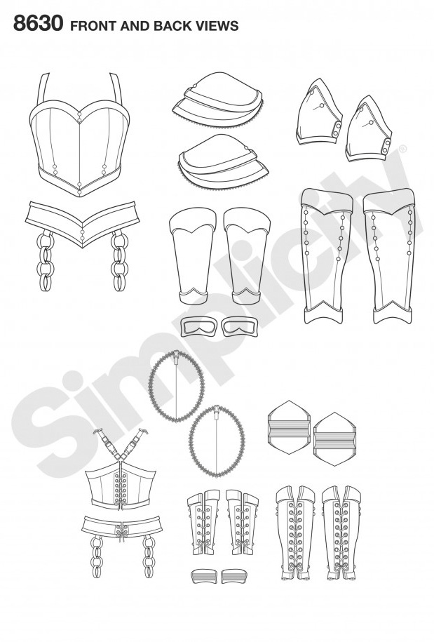 8630 Women's Cosplay Armour